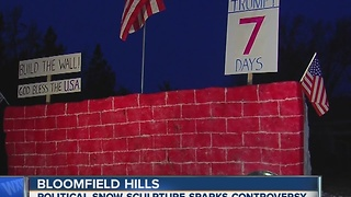 Local man builds Trump's wall outside his home - Video