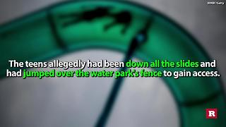 Teen girls caught breaking into waterpark thanks to snapchat | Rare News - Video
