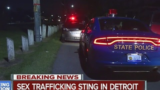 Sex trafficking sting in Detroit - Video
