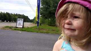 Young Girl Is Unhappy When Siblings Leave for School - Video