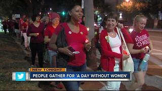 Several gather for 'A Day Without Women' - Video