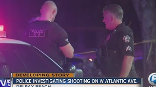 Police investigating shooting on West Atlantic Avenue in Delray Beach - Video