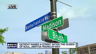 Detroit street renamed Aretha Franklin Way - Video