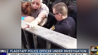 Woman punched in face by Flagstaff police officer speaks out - Video
