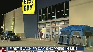 Black Friday Shoppers Begin To Line Up For Deals