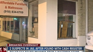 Two suspects in jail after found with a cash register - Video