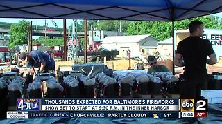Thousands expected for Baltimore's fireworks display on July 4th - Video