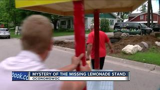 Oconomowoc community comes together to replace missing lemonade stand - Video
