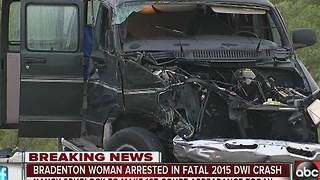 Bradenton woman arrested in fatal 2015 DWI crash - Video