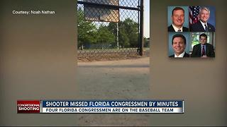 Shooter missed Florida Congressmen by minutes - Video