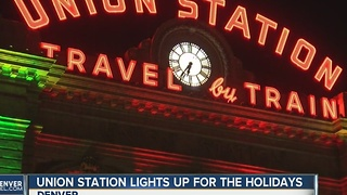 Holiday displays at Union Station, Botanic Gardens light up Denver sky - Video