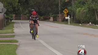 Naples cyclist hit by car - Video