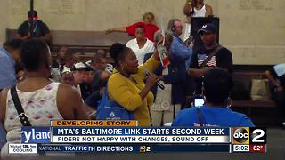 MTA's BaltimoreLink starts second week, riders sound off on changes - Video