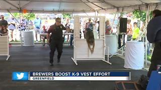 Brewers boost K-9 Vest effort