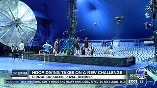Rotating stage and treadmills on Cirque Du Soleil Luzia stage - Video