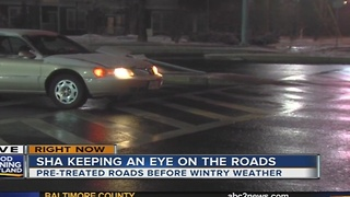 State Highway Administration urges caution during commute after overnight snowfall - Video