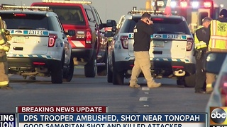 DPS trooper expected to recover after surgery, after being shot by suspect Thursday morning - Video