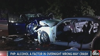 FHP: Alcohol a factor in overnight wrong-way crash - Video