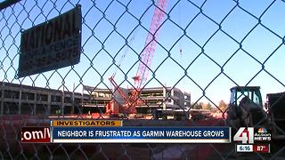 Garmin warehouse construction progressing over neighbor objections - Video