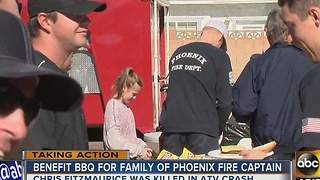 BBQ held for fallen Phoenix firefighter captain - Video