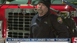 Nashville Firefighters Return From Sevier County - Video