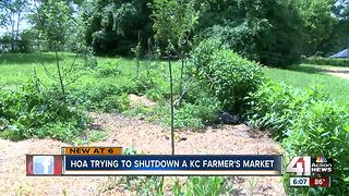HOA trying to shut down farmer's market - Video