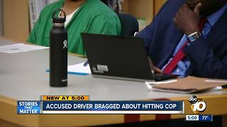 Driver accused of hitting cop will stand trial - Video
