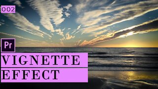 How to create a vignette in Adobe Premiere Pro
