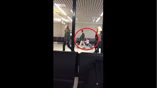 Toddler Travels Through Airport In Style