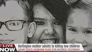 Darlington mother admits to killing two children - Video