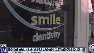 Dentist arrested for practicing without license - Video
