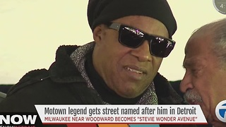 Stevie Wonder street sign unveiled
