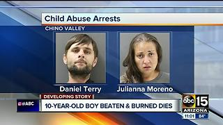 Child dies after being beaten, burned and bound in Chino Valley - Video