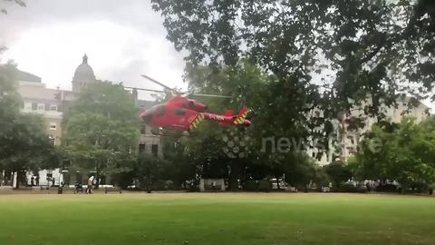 Air ambulance takes off after cyclist killed in London