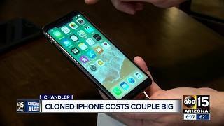 Cloned iPhone costs Valley couple big - Video