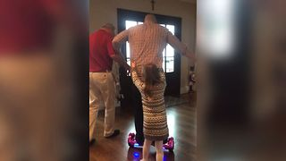 Dad Tries Hoverboard and FAILS - Video