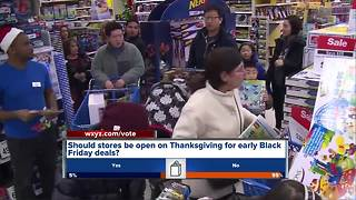 Stores opening early for Black Friday deals - Video