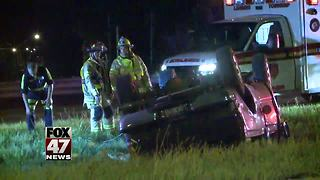 Rollover accident on US-127 in Lansing Township - Video