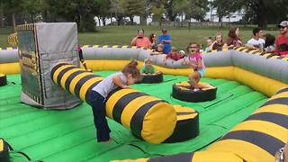 """Girl Epically Fails At Inflatable Obstacle Course"""