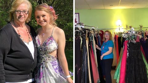 Real life fairy godmother gifts over a thousand dresses to help girls go to prom in memory of daughter