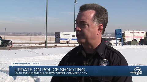 Suspect dead after officer-involved shooting near 104th Avenue, Blackhawk Street in Commerce City