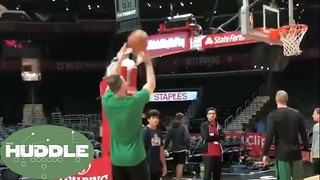 Gordon Hayward RETURNS to the Court to Shoot Before Celtics vs Clippers -The Huddle - Video