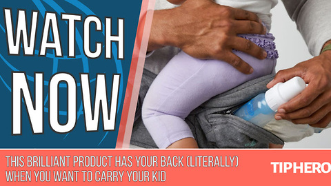 This Brilliant Product Has Your Back (Literally) When You Want to Carry Your Kid