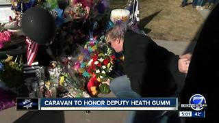 Caravan held for fallen Adams County Deputy Heath Gumm - Video