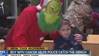 Boy with cancer helps police catch The Grinch - Video