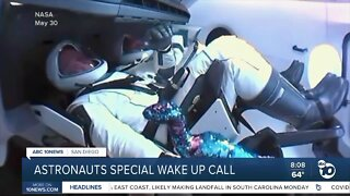 Astronauts get a special wake up call