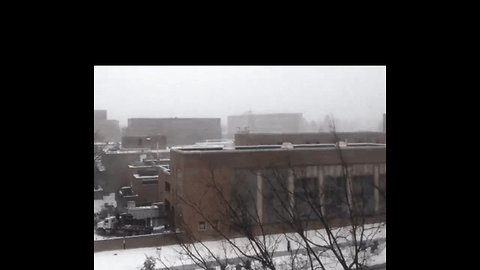 Timelapse Shows Snow Squall Rolling Over Penn State