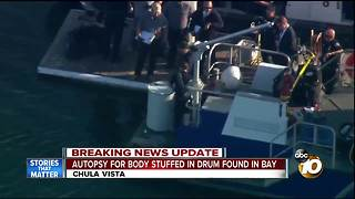 Body found stuffed in drum in Bay - Video