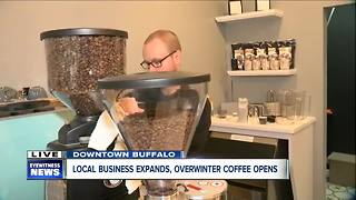 Local coffee roasters open first coffee shop - Video