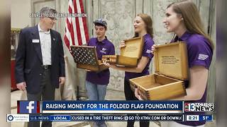 Raising money for Gold Star families through Folded Flag Foundation - Video